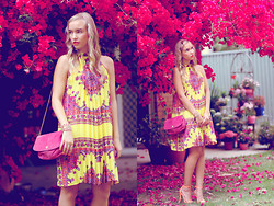 Kristal Anderson - Pixie Market Dress, Vint Bagage, Dotti Heels - IN BLOOM