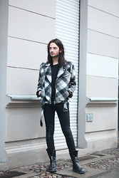 Dustin H. - Balmain Jacket, H&M Jeans, Rick Owens Shoes - NYC DREAM
