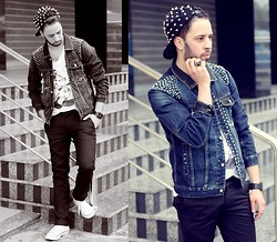 Yassine Amlal - Converse Shoes, Cesare Rubini Pants, Asfalto Jacket Denim - Goodbye january