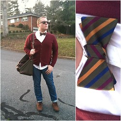 Eric Campbell - Bow Tie, Cardigan, Jeans, Oxfords, Weekend Bag, Weekend Wayfarers - My future's so bright...