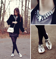 French Diary D - Yves Saint Laurent Jacket, H&M Necklace, Mood By Me Oxfords, Alexander Wang Bag - At dusk