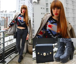 LowCostSirene Sirene - El Corte Ingles Pull, American Apparel Coar, Vintage Store Paris Bag - Navajo colorful