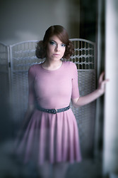Laura O Connor - River Island Pink Skater Dress - Vintage Vixen...
