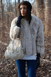 Gail C - Vintage Fox Fur Coat, Accessorise Gloves, Cashmere/ Angora Hat - For Fox's Sake!