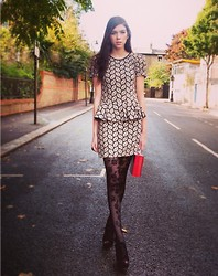 Sophie Bailey - Mina Dress, Topshop Suede Chunky Heels - Get off the road!