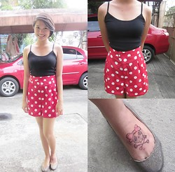 Camille Kuanken - Darli's Top, Polka Skorts, My Gay Henna, So Fab! Glittered Shoes - Minnie Mouse <3