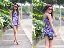 Laureen Uy - Drop N Shop Sunnies, Pill Clothing Jumpsuit, Sm Accessories And Bag, Ingga Sandals Flats - Flower Power (BMS)