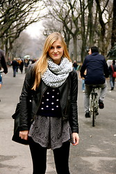 Camilla W - Anthropologie Sweater, Club Monaco Scarf, Fp Dress - New York Afternoons