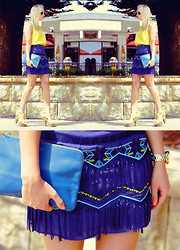 Kristal Anderson - Wish Skirt, Vintage Top, Rubi Wedges, Céline Pouch, Michael Kors Watch - POP