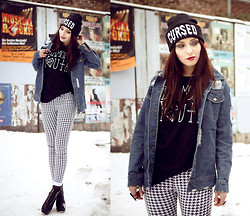 Masha Sedgwick - Romwe Pants, Romwe Jacket, Shirt, Kill Star Beanie, Boots - WE ARE THE DIAMOND YOUTH