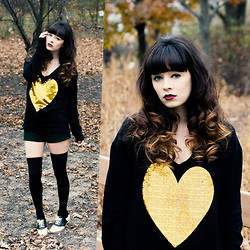 Rachel-Marie Iwanyszyn - Wildfox Couture Heart Sweater, Knee High Socks, Bass Saddle Shoes, Http://Www.Jaglever.Com - WILD HEART.