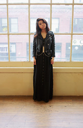 Jasmine S - Nasty Gal Cropped Moto Zip, Urban Outfitters Button Down Maxi - All I ever wanted was everything
