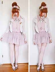 Anna Salo - H&M Jacket, Lindex Skirt, American Apparel Over Knee Socks - PINK FAIRY