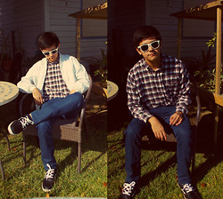 ☾ Anthony Eric ☽ - Flannel, Thrifted - I Shine Brighter Now Without You Clouding Up My Day