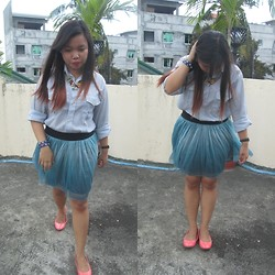 Nadin Magbiray - Thrifted Ombre Skirt, Payless Flats - Pops of Colors