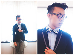 Binh N. - H&M Fitted Dress Shirt, Custom Made Zebra Bowtie, Custom Made Blazer, Urban Outfitters Jeans - FIVE  | FIFTY2MEN