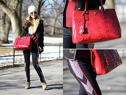 Luisa Accorsi - Prada Bag, Rag & Bone Jeans, Madewell Boots - Winter in Central Park