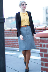 Kathryn Bagley - Vintage Top/Skirt, Joe Fresh Tights - Librariany