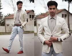 Rayan Benhammadi - Zara Blazer, Roberto Cavalli Shirt, H&M Accessory, Swatch Watch, Zara Pant, Ctf Shoes - I need to know how much you love me babe!