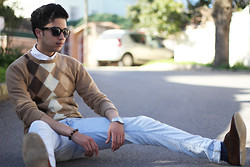 Rayan Benhammadi - Zara Sweater, Zara Shirt, H&M Accessory, Swatch Watch, Zara Pant, Paul Smith Shoes, Ray Ban Glasses - Read your mind!