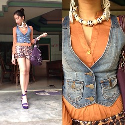Valerie May Garingalao - Forever 21 Denim Vest, Dorothy Perkins Top - A Young Primadonna