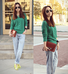 Joan K. - H&M Boyfriend Jeans, Proenza Schouler Clutch, Zara Heels - Something Borrowed