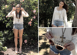 Bella Silva - Tobi Shoes, Tobi Top, Tobi Vintage Glasses, No Idea Vinatage High Waisted Shorts - Be My Summer Romance
