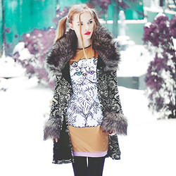 Ruby June - Betsey Johnson Coat, Qoo Dress - ☁Hunting Bears☀