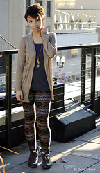 Kyla G - Heartbreakers Cardi, Heartbreakers Winter Leggings, Guess? Combat Boots - Rooftop chill