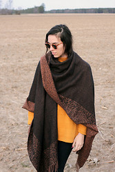 Kennedy Holmes - Vintage Shawl, Vintage Sweater, Vintage Sunnies - The farm