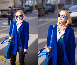 Olga Choi - Sheinside Coat, Sheinside Sweater, Milantro Scarf, Nowistyle Bag, Giant Vintage Glasses - Happy Lunar New Year!