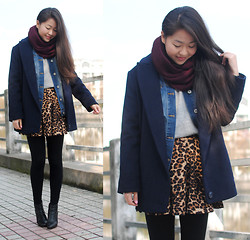 Meijia S - H&M Denim Jacket, Zara Circle Scarf - Layering