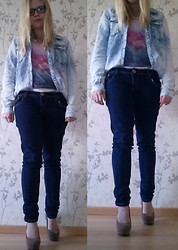 Joanne Fairytale - H&M Blouse, H&M T Shirt - Galaxy and denim