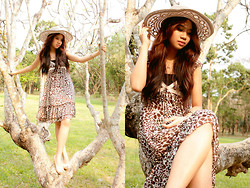 Munik Martinez - Japan Summer Dress, Black Tube, Quezon Native Hat, Cream Wedge - Paradise