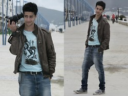 Rayan Benhammadi - Zara Jacket, Deep T Shirt, Pull & Bear Pant, Converse Shoes, Swatch Watch - MY LOVE IS A REVOLVER.