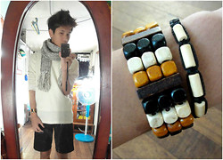 James Mationg - Scarve, White Sweater, Black Short - Little Things