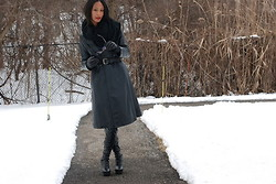 Gail C - Leather Coat Bought In Itally, Kg Boots, Pashmina Bought In Nyc - Winter Leather