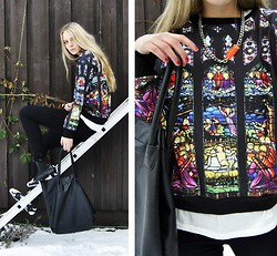 Kajsa Svensson - Sheinside Sweater, H&M Necklace - Since you been gone