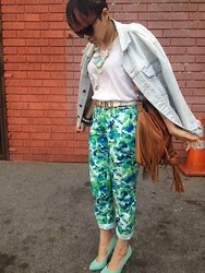 Kelly Love - Levi's® Levis Jacket, Moschino Belt, Forever 21, Lolashoetique - Falling in Love