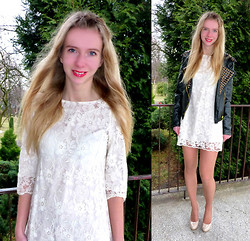 Ania Zarzycka - Sheinside Lace Dress, Choies Jacket - White, lace dress