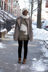 Tipa Tipa - Gap Scarf, H&M Pants, Boutique Nine Ankle Boots - Bear Hug