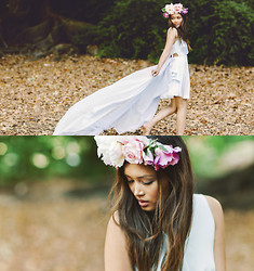 Angeline Dowling - Romwe, Diy Floral Headband - Our Fairy Tale Love Story