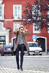 Sofie V. - Mango Jacket - Leopard and leather