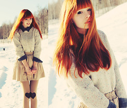 Mary Volkova - Mango Sweater, Http://Nowistyle.Jp/ Skirt, Http://Nowistyle.Jp/ Shirt, Chic Wish Tights - Forever  Alone  Day