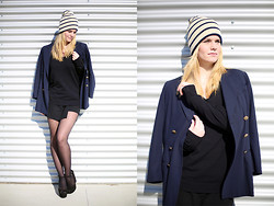 Kimberley Denise - Monki Beanie, Zara Sweater, Zara Skirt, Zara Wedges - License to kill.
