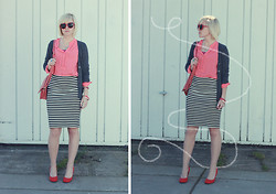 Hales Titus - Urban Outfitters Heels, Old Navy Striped Skirt, Forever 21 Sunnies - We just take pictures
