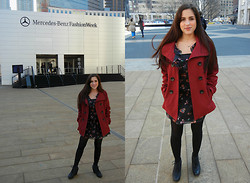 Melody Danian - Steve Madden Red Coat - My First NYFW