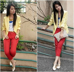 Zaira Chan - Wagw Blazer, Gap Trousers, Cole Vintage Brogues, A.G. Cordeshoppe Necklaces - Post Valentine