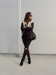 Veronika B - Sheinside Jacket, Asos Boots, Levi's® Jeans - Black is such a happy color