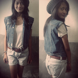 Princess Manuel - Osh Kosh Denim Vest (Customized), Semir Jeans Denim Shorts, Guess? Silver Watch - Pioneer
